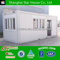 Unique prefabricated mobile homes container house design for shop/ sentry box/living unit