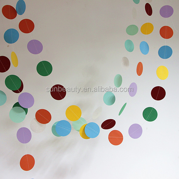 Assorted Color 3.6m 3d Paper Circle Garland Party,Paper Crafts - Buy ...