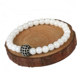 Popular Items Fashion White Stone Beads Bracelet Cute Cheap Bulk Jewelry
