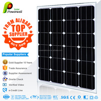 Powerwell 12V/24V SOLAR Power STREET LIGHT streetlight solar cell panel 65w 12v 150w solar panel