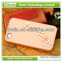 Coloful bling bling Rhinestone 3d flower cover Phone Case for iphone 4 / 4s