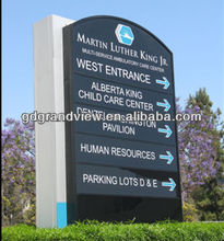 steel directory monument signs