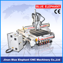 Manufacturer Directly Supply! ! ! ELE1325 cnc router with auto tool changer with vertical and horizontal spindles
