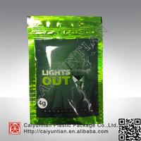 light out 4g herbal incense potpourri bag/light out ziplock pouch,lights out spice potpourri zipper bag