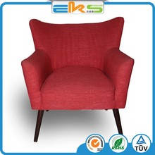 FABRIC UPHOLSTERED PU PVC LEATHER HOTEL FRENCH STYLE ANTIQUE LEISURE LOBBY FURNITURE PATCHWORK ARMCHAIR