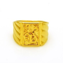 2015 new fashion OuBi square dragonkind male ring