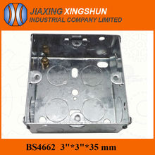 Hot Selling Stainless Steel English Standard 3*3 Square Metal Wall Junction Box