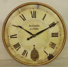 Antique gold mdf clock with pendulum