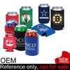 cheap custom logo printed collapsible can cooler neoprene insulator