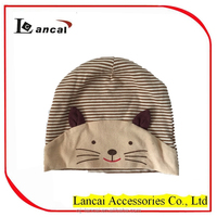 2016 new style baby soft stripe cute cat hat