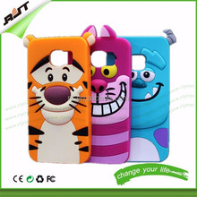 Cartoon 3D Soft Silicone Rubber Case Back Cover Skin phone case For Samsung Galaxy S6 S6 Edge mobile phone case factory price
