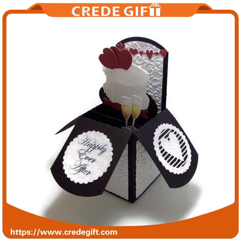 웨딩 팝업 인사말 카드 행복 25 주년 카드 카드
