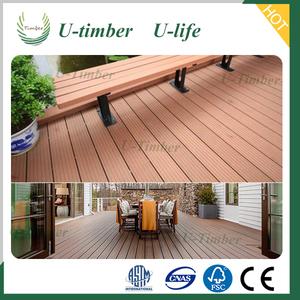 Impermeabile e anti-slittamento giardino patio deck pavimentazione wpc decking composito esterno mobili
