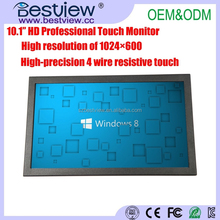 10.1inch HD Professional Touch Screen Monitor with 16:9 Ratio 1024*600 High Resolution