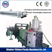 Polycarbonate/PC Sun Panel Hollow Grid Plate Extruder Extrusion line