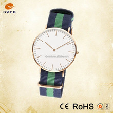Stainless Steel woven Nylon band wrist Watch
