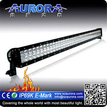 Hot selling AURORA atv 40inch LED dual row motorcycle led driving lights