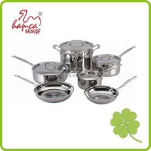 Stainless Steel Cookware Set Cooking Pots Pans 10Pcs Induction Casserole and Frying Pan