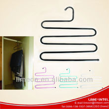 New style metal pants hanger / trouser hangers/ wholesale space saving cheap metal clothes hanger