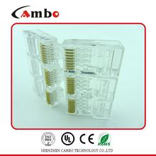 Made In China 8p8c fu/3u/50u gold plated unshielded rj45 cat 5 6 lan ethernet splitter connector adapt