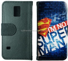 Flip PU Leather Wallet Card Holder Stand Phone Case Cover For Samsung s5 mini