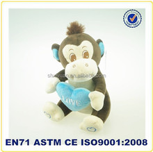 China import valentine plush toys for girls russ monkey toy plush monkeys