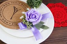 2015 hot-selling wedding Light Pink Prom Wrist Corsage Flowers