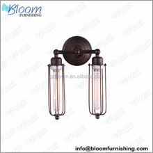 Edison Caged Double Sconce Outdoor Wall Lamp