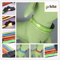2014 new year promotional reflective RGB dog collar