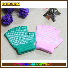 Fitness non slip gym fingerless hand gloves for woman
