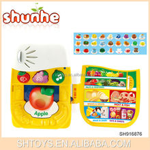 Good sell educational toys smart fruit learning machine kids computer