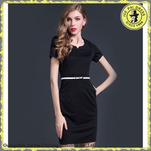 Simple Style Short Sleeves Promotional Dress With Pockets