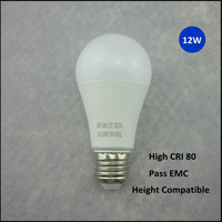 High CRI led bulb aluminum housing 1000 lumen led bulb e27 12w