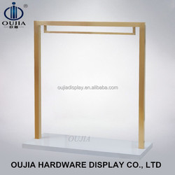 Rose golden metal clothing rack, clothing display rack, display for shop