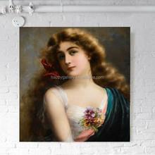 beautiful girl & paintings art