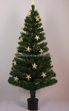 2015 popular Christmas Party Ornament Fiber Optic with stars Christmas Tree