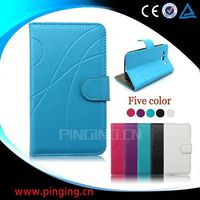 factory price leather phone cover for samsung galaxy tren duos s7562 case