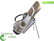 2015 New design PU leather customize golf stand bag