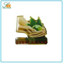 Top Sale Metal Custom Printed Environmental Protection Pin Badges