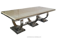 A8026 Hotsale reduced design marble top dining room table for 12 seat