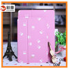 2015 Simple Thin Style Silk Pattern Tri-fold Flip PC + PU Leather Case for iPad Air 2 Case with Stand