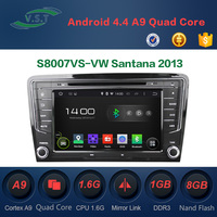 Android 4.4 dual-core car dvd player with BT/WIFI/RADIO/GPS for VW Santana 2013