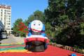 Salling caliente giant publicidad inflable tren de la historieta