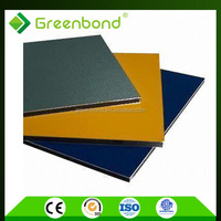 Greenbond standard size 1.22m*2.44m aluminum composite panel for roof decoration