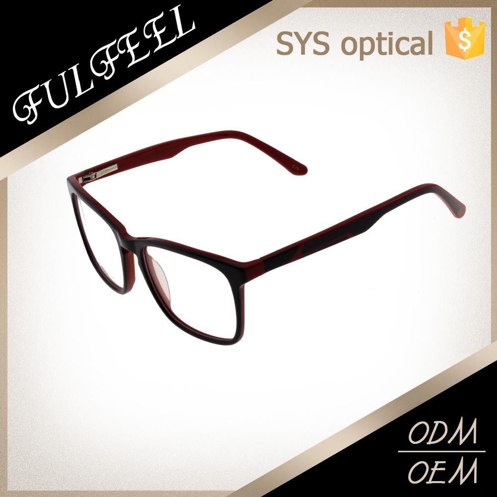 two tone color acetate glasses frame factoty optics frames
