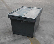 Heavy Duty Plastic Storage Box With Attached Lid for UK
