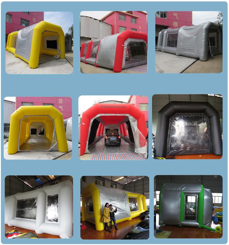 Vente chaude postes de travail gonflable peinture booth for Cabina de pintura portatil