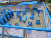 Durable PVC hot sale inflatable bunkers paintball for rental