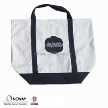 2015 canvas laundry bags with handles,canvas tote bag with short handle,tote bags with zipper closure