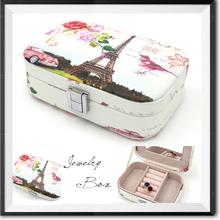 Wholesale High quality beatiful leather printed logo jewelry box/paper jewelry box/velvet jewelry box